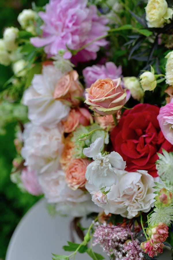 summer flowers in a big bouquet