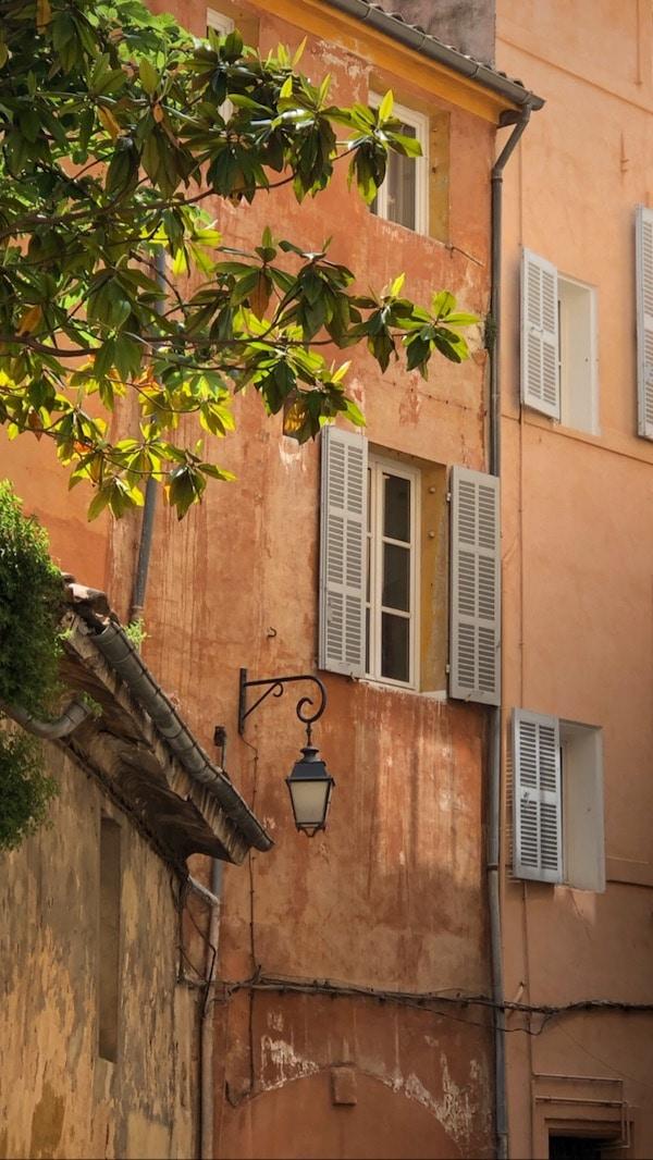 ochre facades in provence