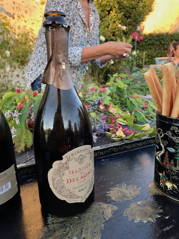 Champagne and a floral demonstration