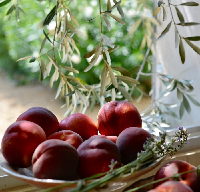 peaches in provence sunshine