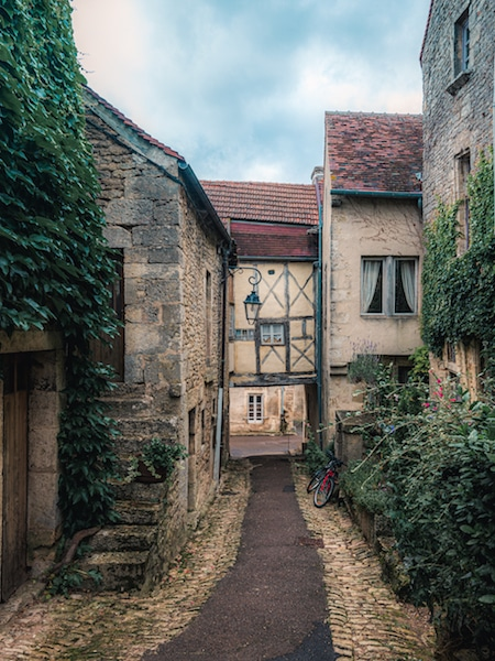 a shot of Flavigny in Burgundy