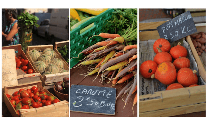produce for sale on french market
