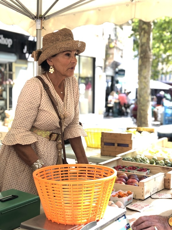 selling produce at french market