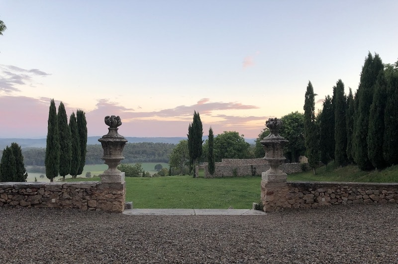 The sunset in Provence on a tour