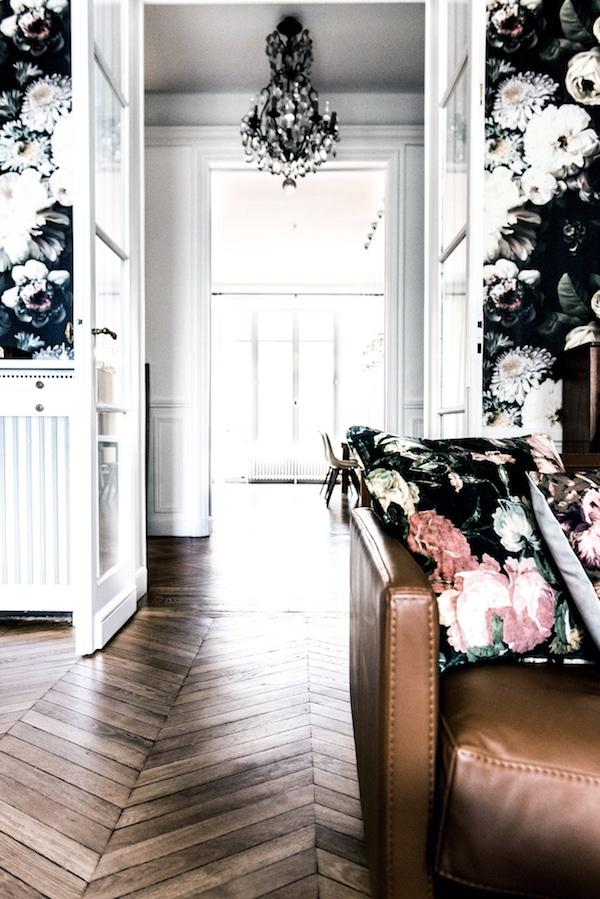 hallway with wooden floor