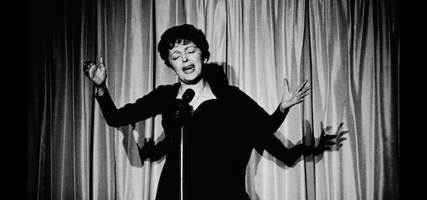 famous french singer edith piaf performing