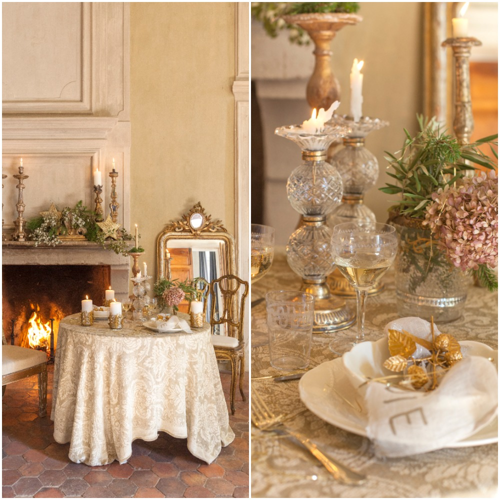 A Gold Holiday Tablescape at Chateau de Moissac
