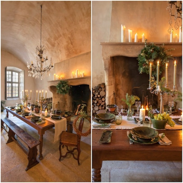 A magical holiday tablescape at Chateau de Moissac