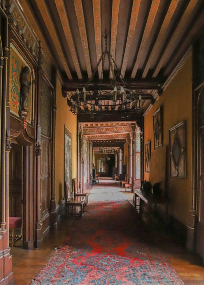 hallway in a chateau