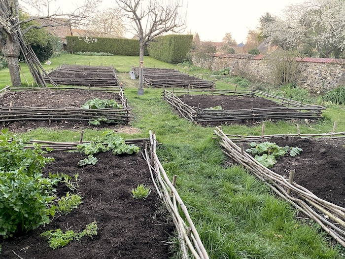 vegetable garden prepared for the spring