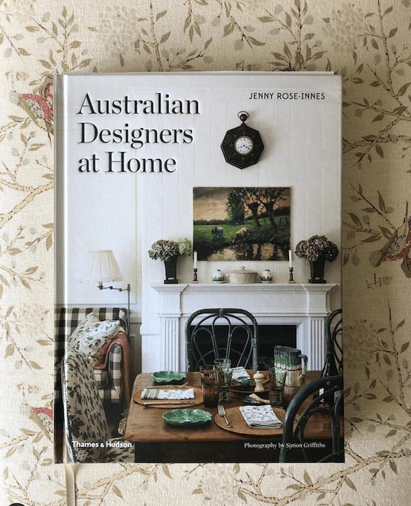 interior design book titled Australian designers at home