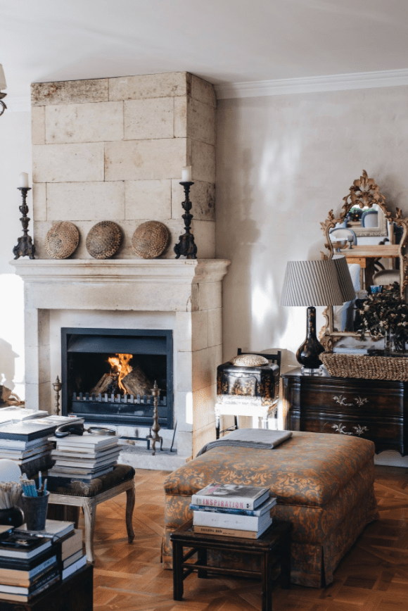 fireplace and country style decor
