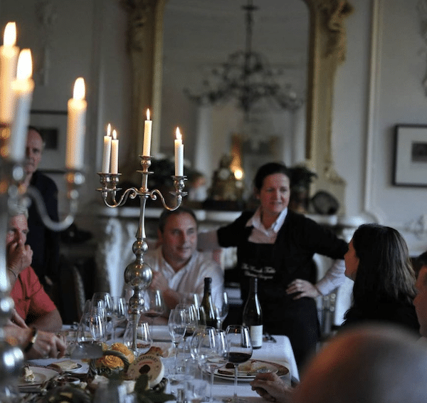 french dinner part with candelabra