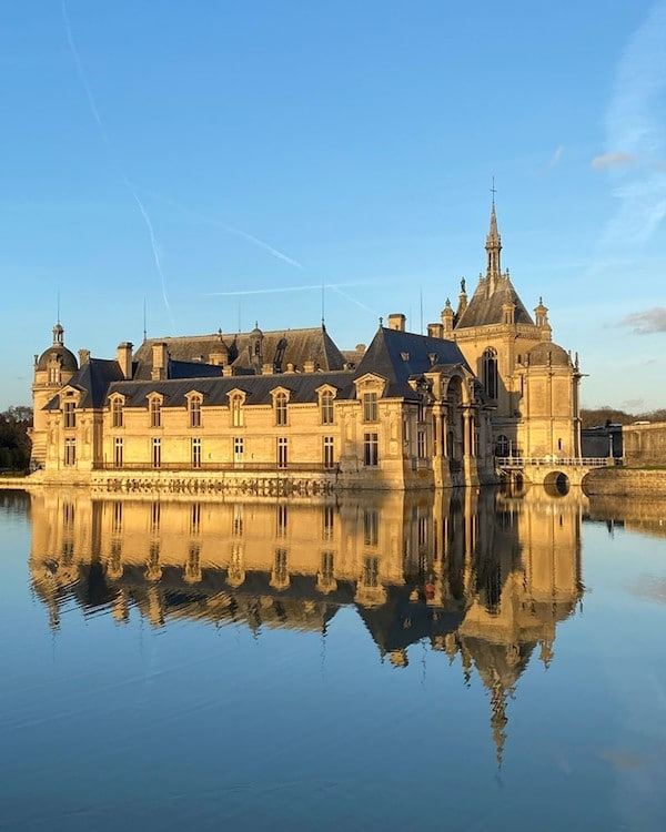 french chateau on water