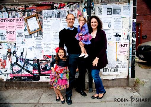 Family Portrait, Kensington Market. Toronto Family and Wedding Photographer.