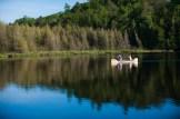 Evan & Liz Summer Cottage Canoe Engagement Session