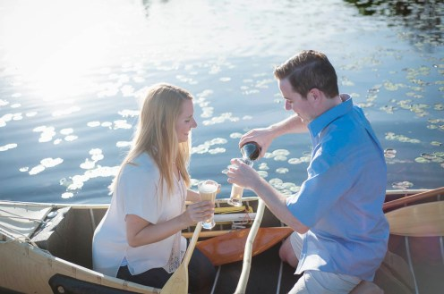 Evan & Liz Summer Cottage Engagement Session