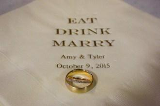 Details - Personalized Napkins - Gold - Wedding Bands - Offbeat Bride - St.Lawrence Market Wedding - Toronto Wedding Photographer