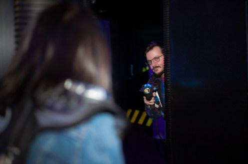 Laser Tag Engagement Session - Toronto Wedding Photographer