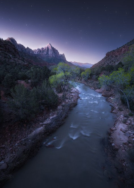 The Watchman under the twilight stars.