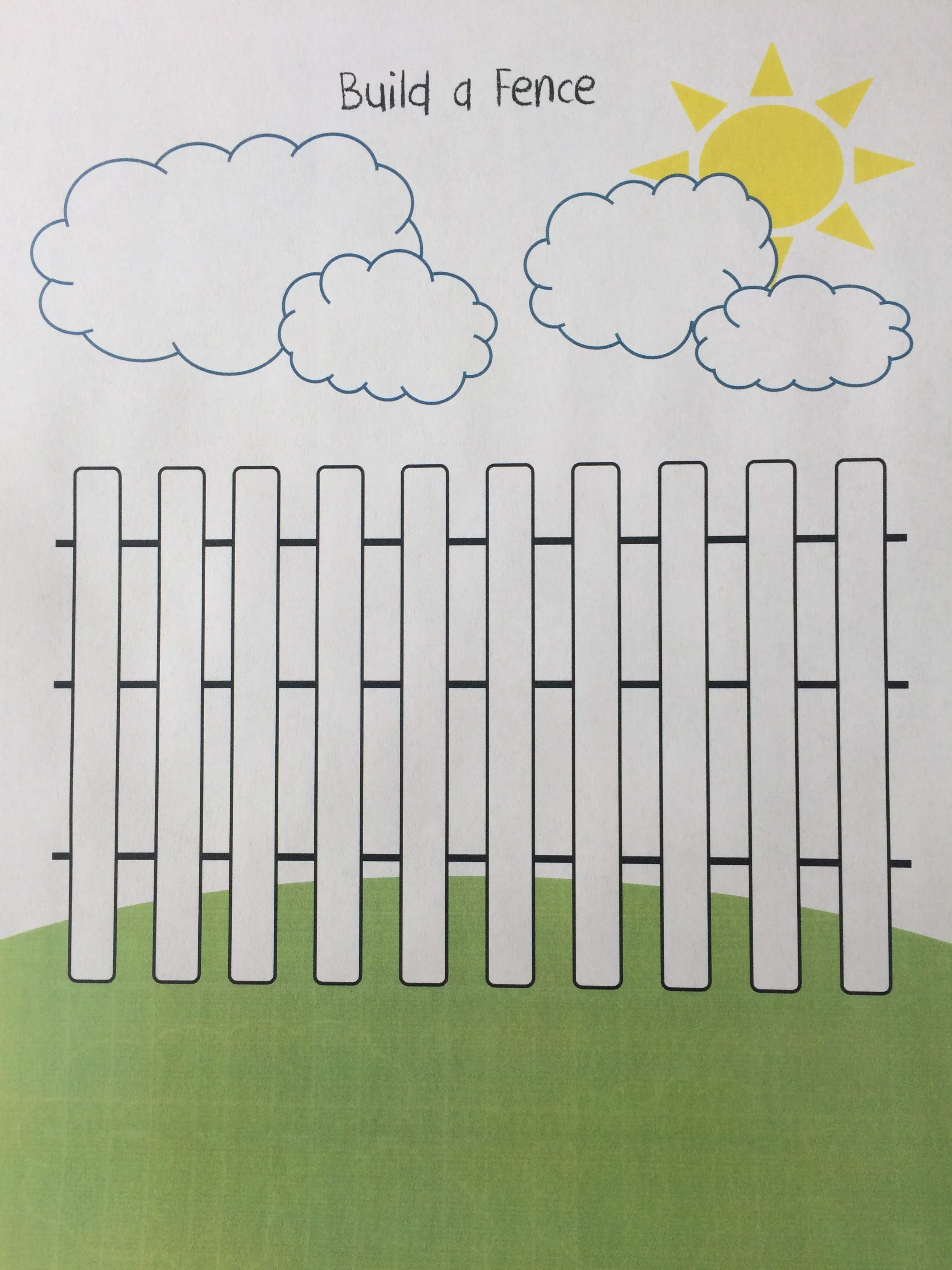 Build A Fence Math Activity Sharpening The Hearts And