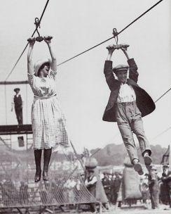 1920s ziplining