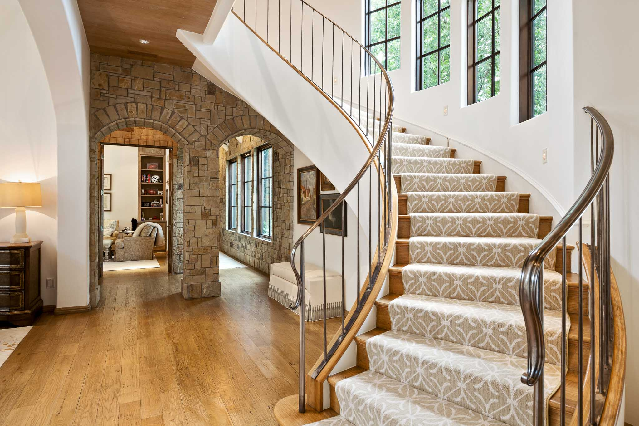 Staircase in home near Flower Mound