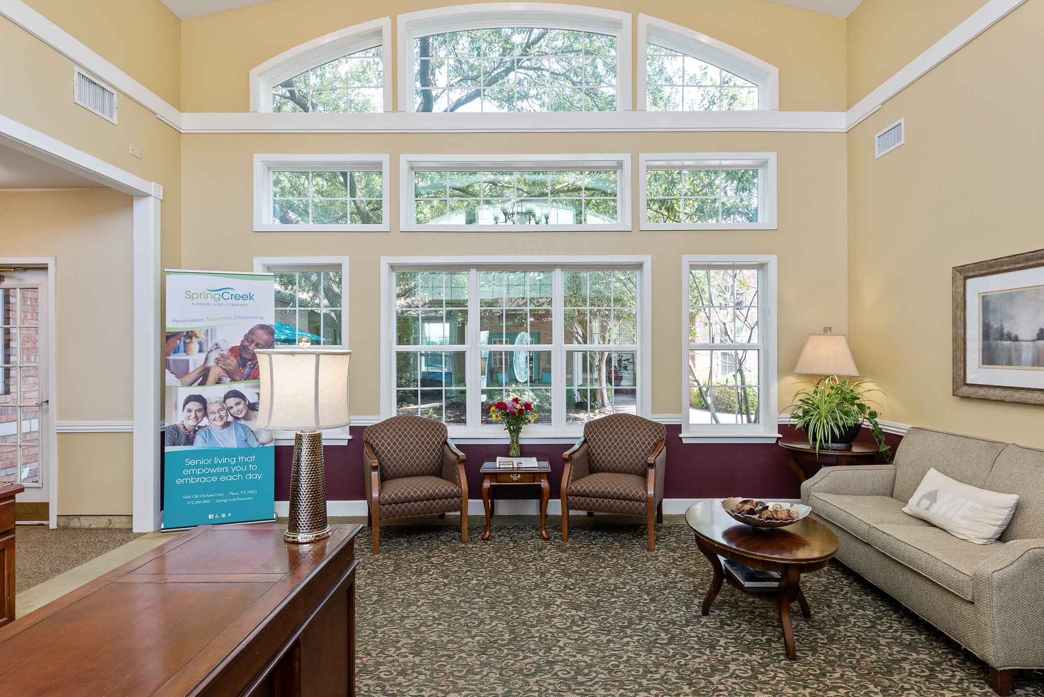Nursing home lobby