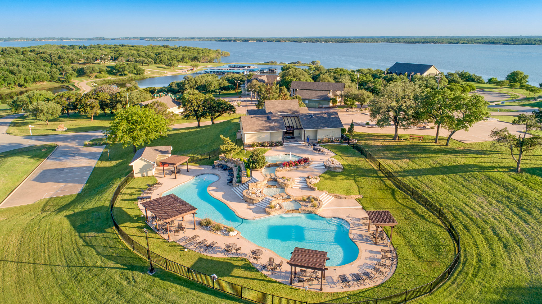 Aerial Photography by lake home for sale