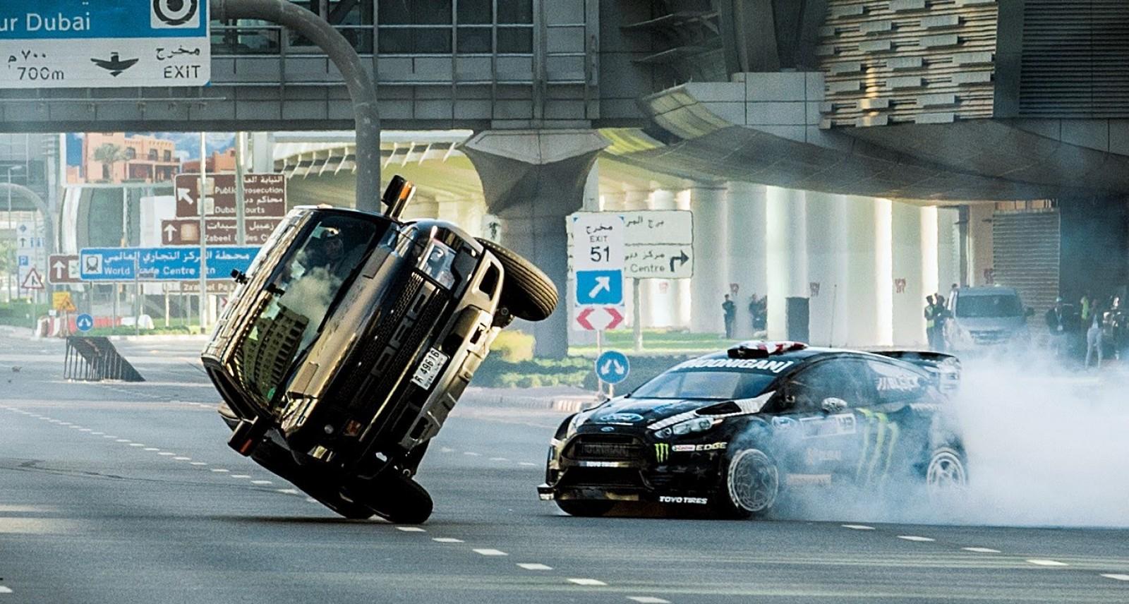 Motorcycle And Car Drift Wallpaper Watch Ken Block Drift Through Dubai Like A Madman In His