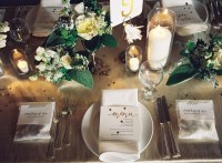 Placesetting ideas for weddings