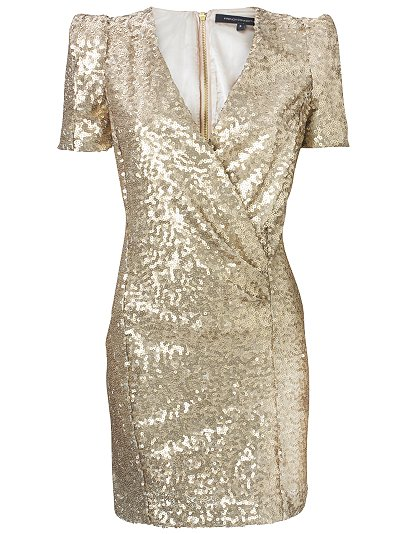 Gold beyonce jacket dress