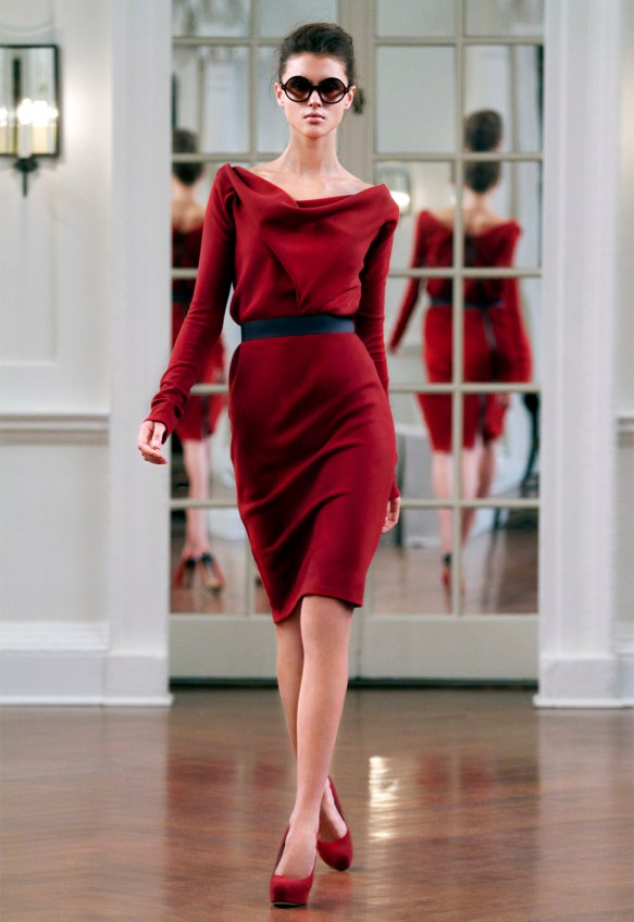 victoria beckham red dress eva longoria