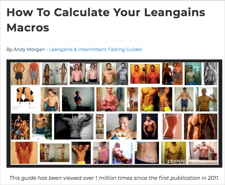 how to calculate leangains personal training