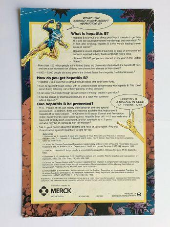 BIO Comics, Captain Bio, Attack of the Hep B Virus 1997 Comic Book