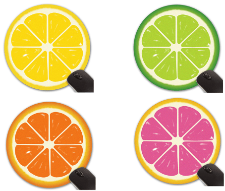 Citrus Fruit Mouse Pad and Coaster