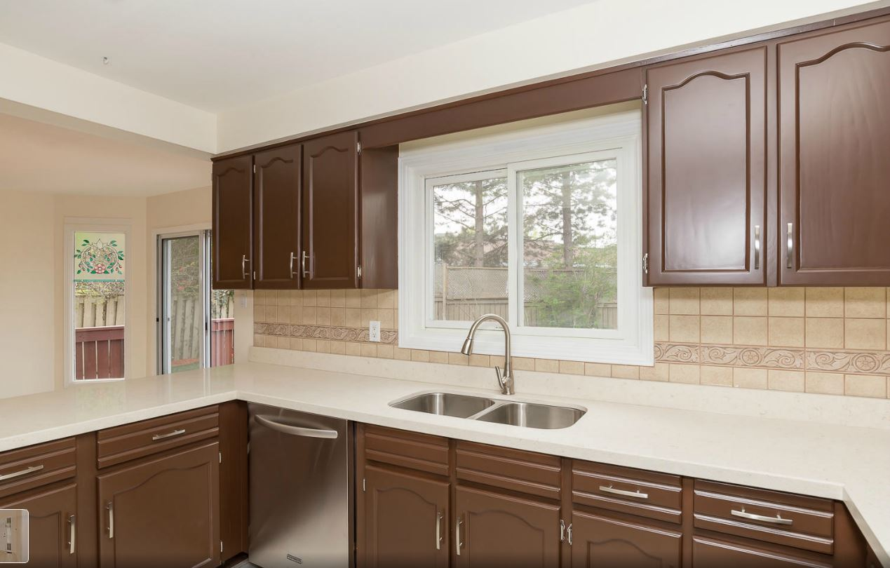 repainting kitchen cabinets deep fryer cabinet refinishing spray painting and in painted
