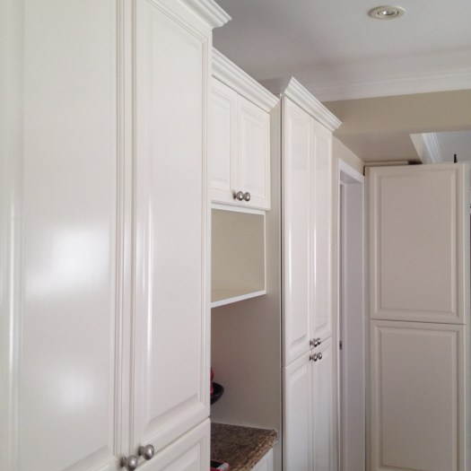 Spray Painted Kitchen Cabinets Oc29 Fl White Classic Brown Island Glen Abbey April