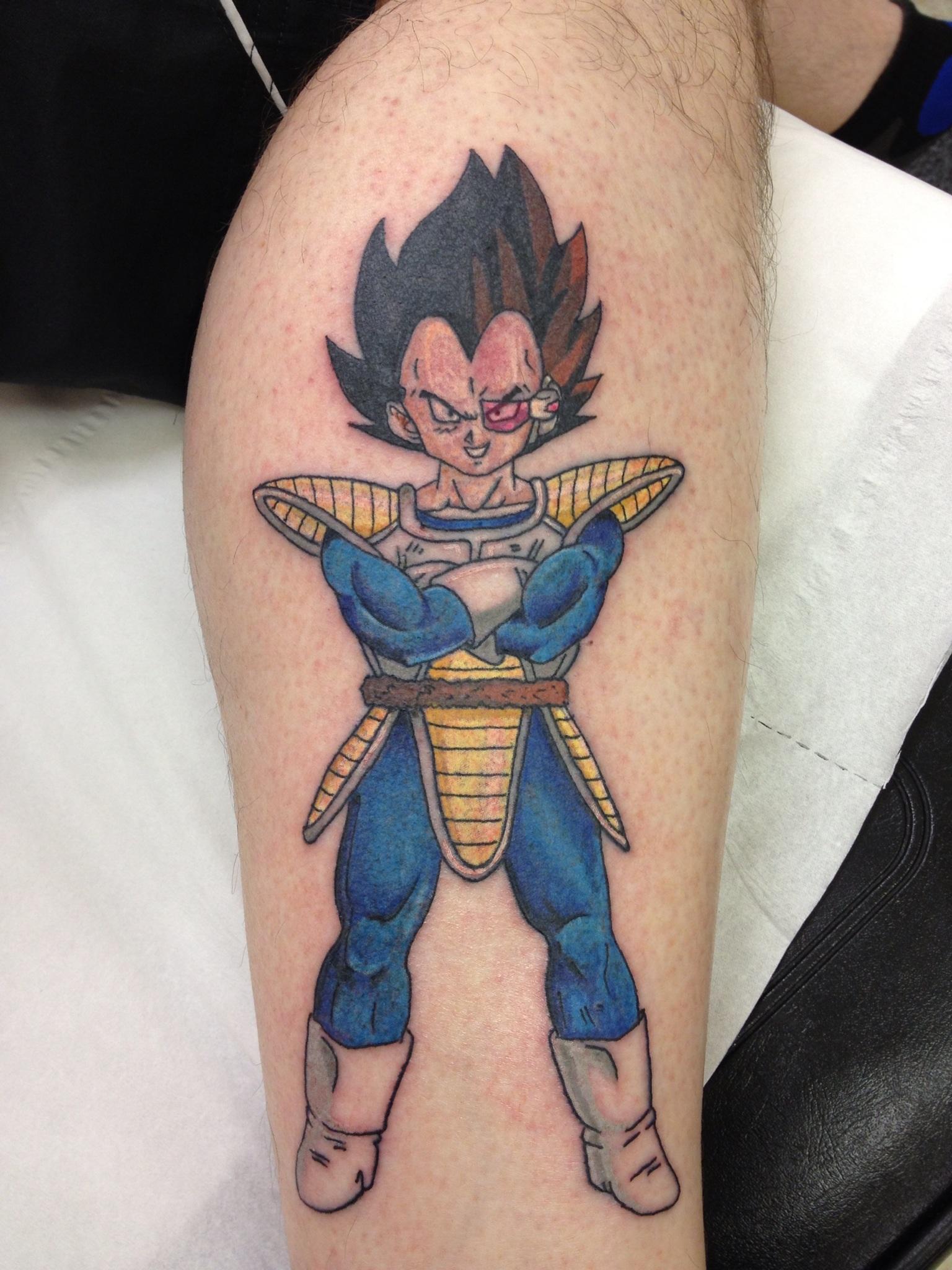 Small Dragon Ball Super Tattoo