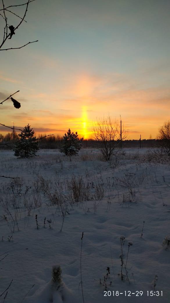Зимняя сказка в Клещёвке