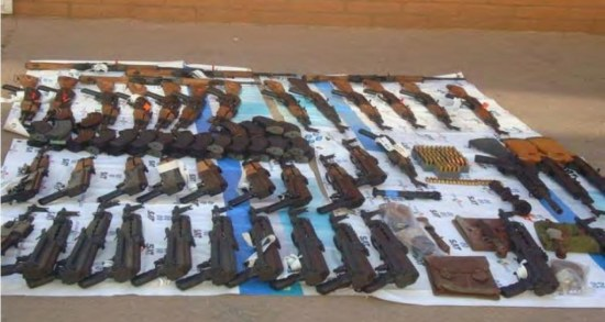 Seized weapons in Naco, Sonora related to Justice Department's Operation Fast and Furious
