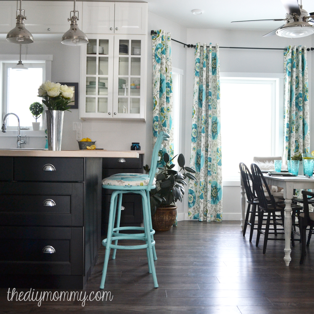 Best A Black White And Turquoise Diy Kitchen Design With Ikea This Month