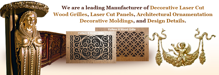 Best Laser Cut Decorative Wood Grilles Panels Moldings This Month