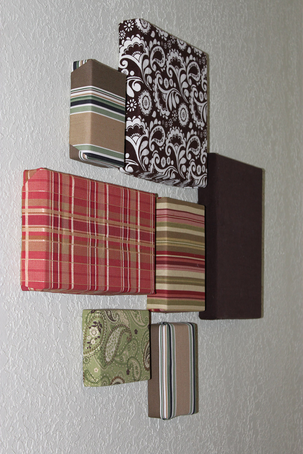 Best Easy Wall Art On The Cheap With Fabric Scraps And This Month