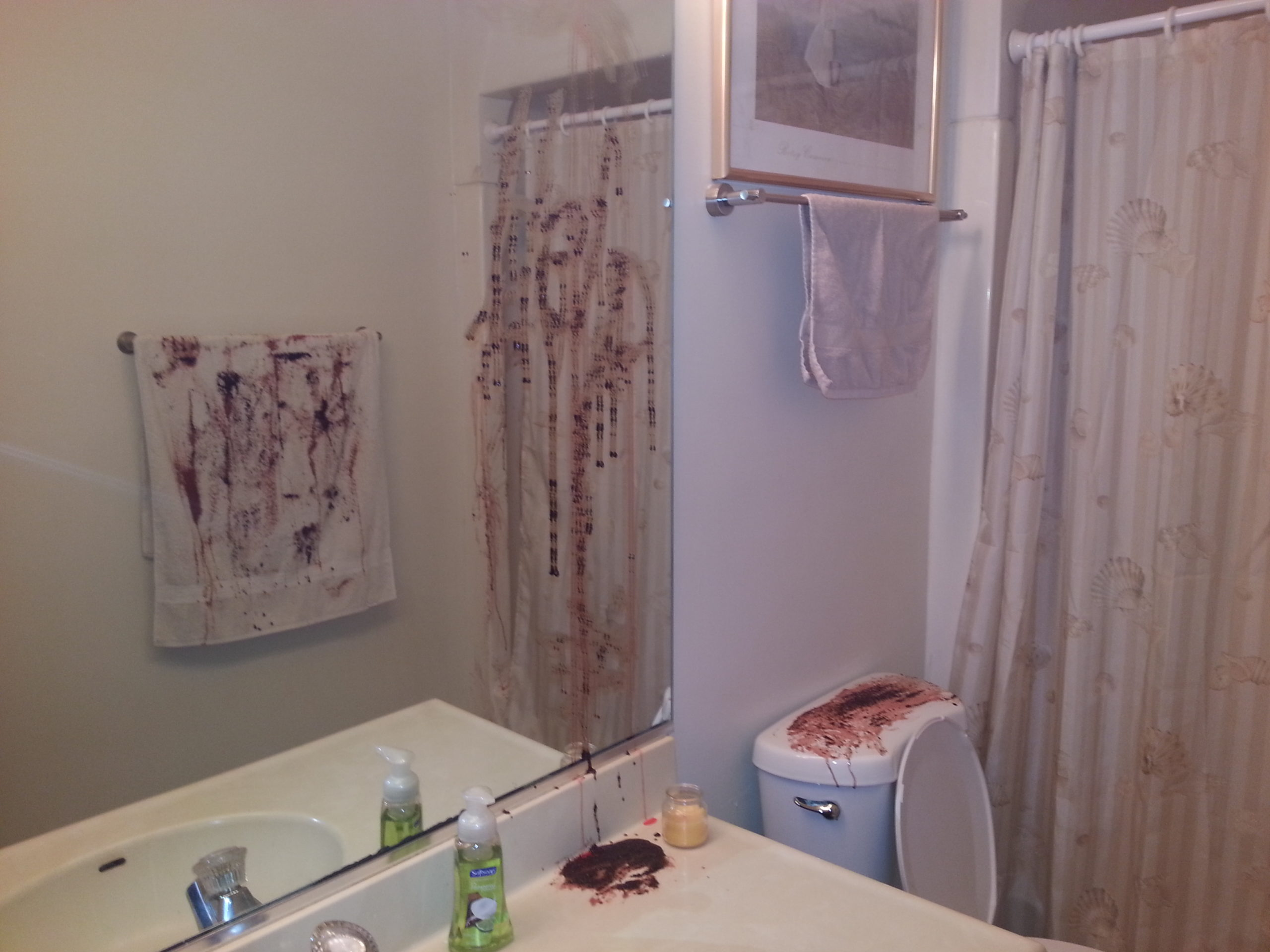 Best Diy Halloween Bathroom Decor Or How Chrissy Is Seriously This Month