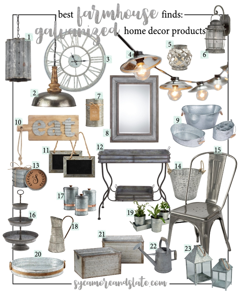 Best Farmhouse Galvanized Home Decor This Month