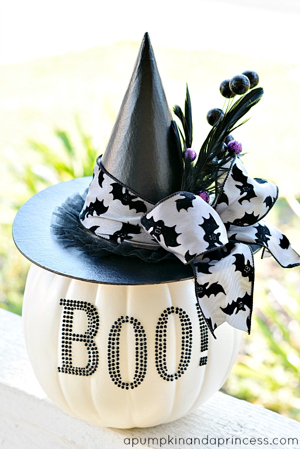 Best Black And White Glam Pumpkin A Pumpkin And A Princess This Month