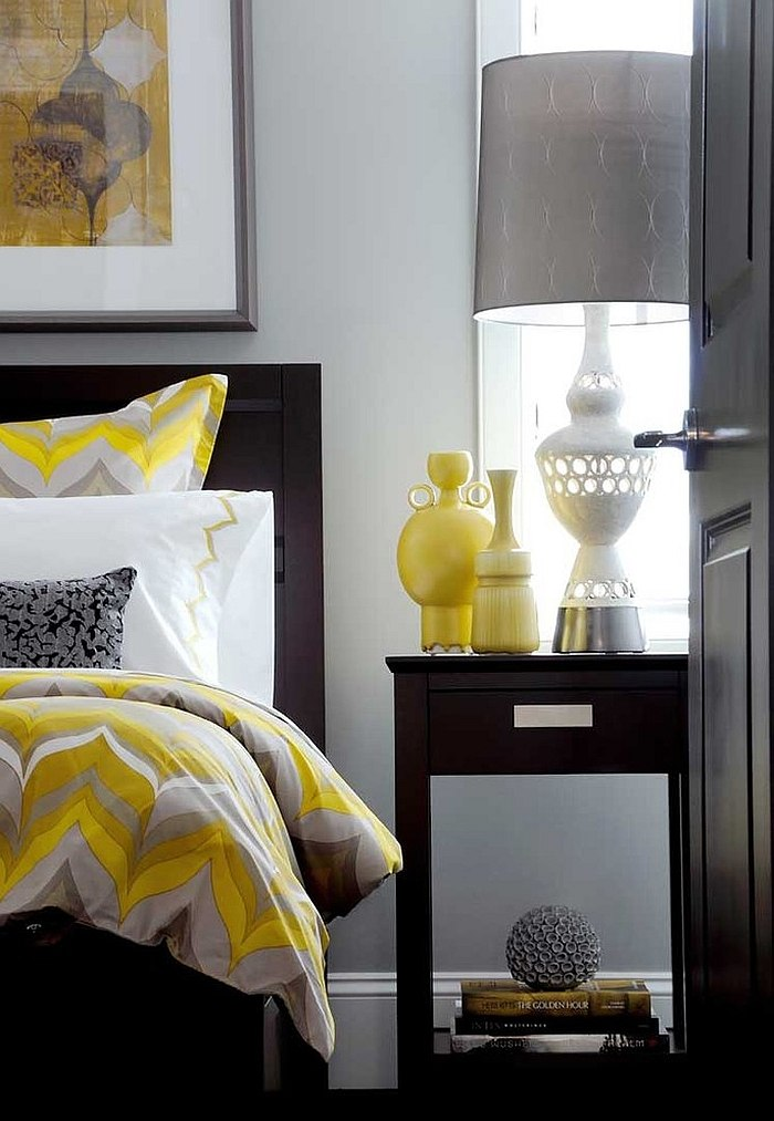Best Cheerful Sophistication 25 Elegant Gray And Yellow Bedrooms This Month
