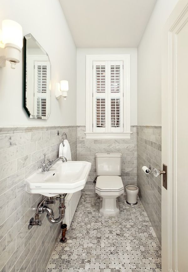Best How To Make A Narrow Powder Room Feel Inviting And This Month