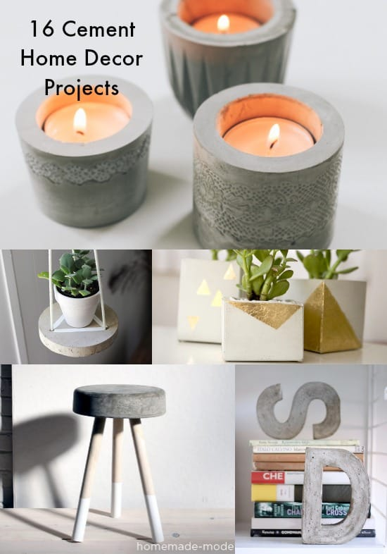 Best 16 Concrete Diy Projects For Home Decor Diycandy Com This Month